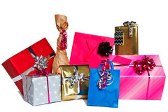 Group of gift presents cut out Stock Image