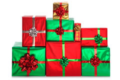 Group of gift wrapped presents. Stock Photography