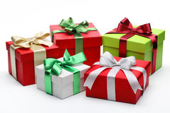 Group of gifts Royalty Free Stock Images