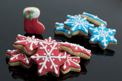 Group of Gingerbread stars Royalty Free Stock Images