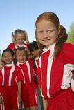 Group of Girl Soccer Players Stock Photo