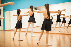 Group of girls in dance class Royalty Free Stock Images