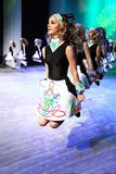Group of girls dancing traditional Irish dance. royalty free stock photography