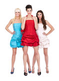Group of girls in  dresses Royalty Free Stock Image