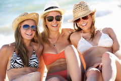 Group Of Girls Enjoying Holiday Royalty Free Stock Images