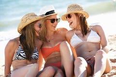 Group Of Girls Enjoying Holiday Stock Photography