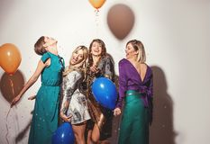 Group of girls having a party Royalty Free Stock Photography