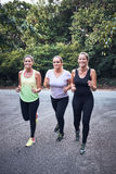 Group of girls jogging Royalty Free Stock Photo