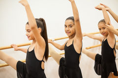 Group of girls practicing some ballet Royalty Free Stock Image