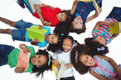 Group of girls reading books Royalty Free Stock Photo