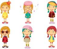 Group of Girls Singing Stock Image