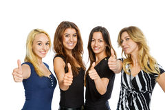 Group of girls with thumbs up Royalty Free Stock Images