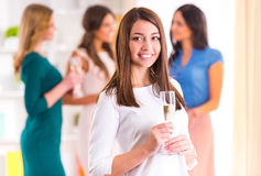 Group of girls stock photo