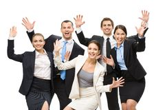 Group of glad business people Royalty Free Stock Photos