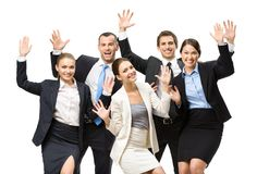 Group of glad executives Royalty Free Stock Image
