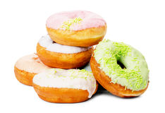 Group of glazed donuts Royalty Free Stock Photography