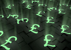 Group of glowing pound symbols Stock Images