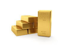 Group of gold bars Stock Photography