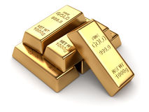 Group of gold bars Royalty Free Stock Photos