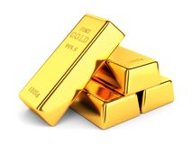 Group of gold bars Stock Images