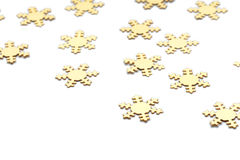Group gold snowflake isolated Stock Photo
