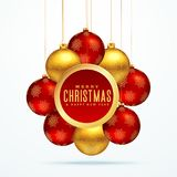 Group of golden luxury christmas balls for festival season. Group of golden luxury christmas balls for festival season greeting design illustration Royalty Free Stock Image