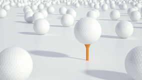 Group of golf balls Stock Photography