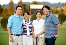 Group of golf players Royalty Free Stock Photo