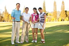 Group of golf players Stock Images