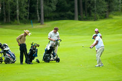 Group golfers on golf feeld Royalty Free Stock Image