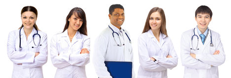 A group of good doctors. stock photos