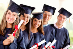 Group of graduate student Stock Photography