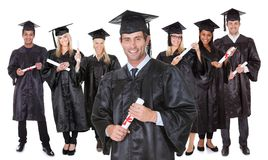 Group of graduate students Stock Photo