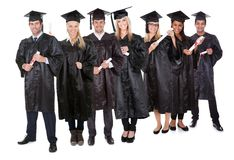Group of graduate students Stock Photography