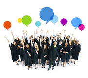 Group of Graduated Student Celebrating Royalty Free Stock Images