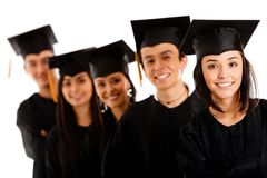Group of graduates Stock Image