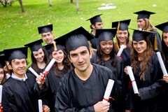 Group of graduates Royalty Free Stock Image