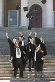 A group of graduates celebrating Stock Photography