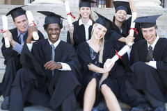 A group of graduates celebrating Stock Images