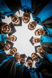 Graduation. Group of graduates fill happy and relaxing in graduation day Royalty Free Stock Image