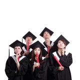 Group of graduates student think Royalty Free Stock Image