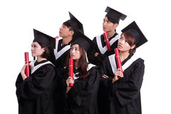 Group of graduates student think Royalty Free Stock Photography