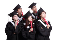 Group of graduates student think Stock Image