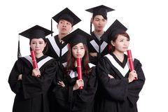 Group of graduates student think Stock Images