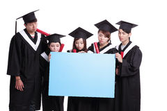 Group of graduates student think Royalty Free Stock Images