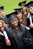 Group of graduation students Royalty Free Stock Photo