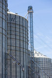 Group of grain silos in Uruguay with blue sky Stock Photos