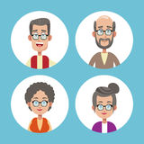 Group grandparents family icons Royalty Free Stock Image
