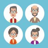 Group grandparents family icons. Illustration eps 10 Royalty Free Stock Image
