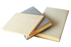 Group of gray books on white background Stock Image